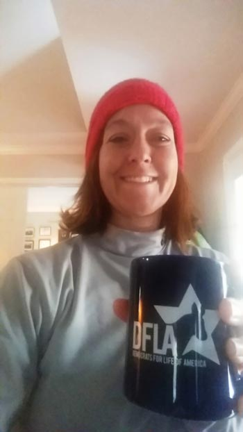 Kristen of VA with her DFLA membership mug